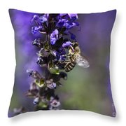 The Bee Hover Throw Pillow
