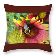 The Bee Keeper Throw Pillow