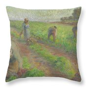 The Beet Harvest Throw Pillow