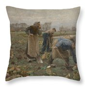 The Beet Harvest Throw Pillow