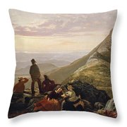 The Belated Party On Mansfield Mountain Throw Pillow