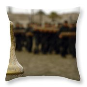 The Bell Is Present On The Beach Throw Pillow by Stocktrek Images