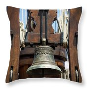 The Bell Of The Tall Ship Throw Pillow