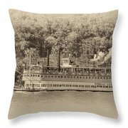 The Belle Of Louisville Throw Pillow