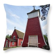 The Bellfry And The Church Of Kustavi Throw Pillow