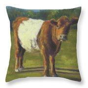 The Belted Cow Throw Pillow