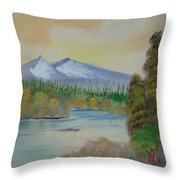 The Bend In The River Throw Pillow