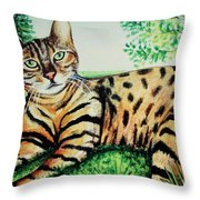 The Bengal Throw Pillow