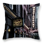 The Berghoff Restaurant Throw Pillow