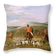 The Berkeley Hunt Throw Pillow by Francis Calcraft Turner