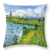 The Berkeley Island Pond Throw Pillow