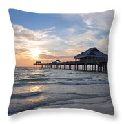 The Best Sunsets At Pier 60 Throw Pillow