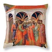 The Betrayal Of Judas 1311 Throw Pillow
