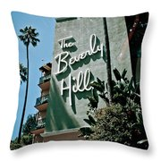 The Beverly Hills Throw Pillow