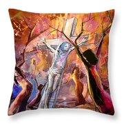 The Bible Crucifixion Throw Pillow