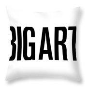 The Big Art - Black On White Throw Pillow