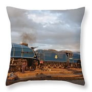 the Big Blue Engines  Throw Pillow