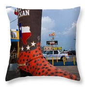 The Big Boot Throw Pillow
