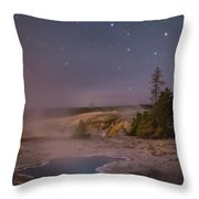 The Big Dipper In Yellowstone National Park Throw Pillow