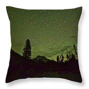 The Big Dipper Over Mount Moran Throw Pillow