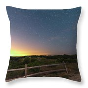 The Big Dipper Over The Lights Of Provincetown Ma Throw Pillow