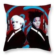 The Big Guns - Warhol And Basquiat Throw Pillow