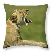 The Big Yawn Throw Pillow