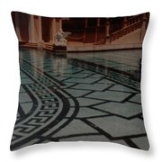 The Biggest Pool Throw Pillow