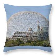 The Biosphere  Ile Sainte-helene Montreal Quebec Throw Pillow