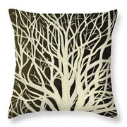 The Birch Tree Throw Pillow