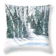 The Birch Trees Throw Pillow