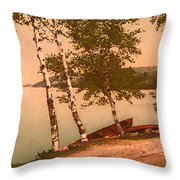 The Birches At Oak Birch Inn, Alton Bay, Lake Winnipesaukee, N. H.  Throw Pillow