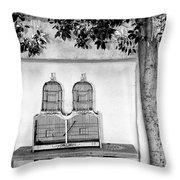 The Bird Cage Palm Springs Throw Pillow
