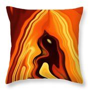 The Bird In The Case Throw Pillow