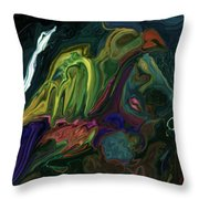 The Bird Man Throw Pillow