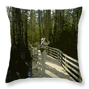 The Birder Throw Pillow