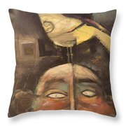 The Birdman Of Alcatraz Throw Pillow