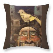 The Birdman Of Alcatraz Throw Pillow