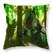 The Birdwoman Throw Pillow