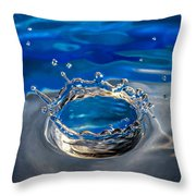 The Birth Of Blue Throw Pillow