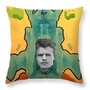 The Birth Of Rorschach The Inventor Of The Inkblot Test Throw Pillow