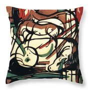 The Birth Of The Horse 1913 Throw Pillow