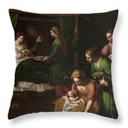 The Birth Of The Virgin Throw Pillow
