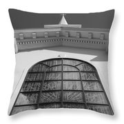 The Black And White Church Throw Pillow