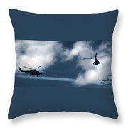 the Black Cats air display Throw Pillow