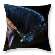 The Black Horse II Throw Pillow by Amanda Struz