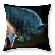 The Black Horse IIi Throw Pillow by Amanda Struz
