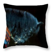 The Black Horse Iv Throw Pillow