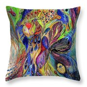 The Black Iris Throw Pillow