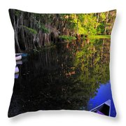 The Black Lagoon Throw Pillow